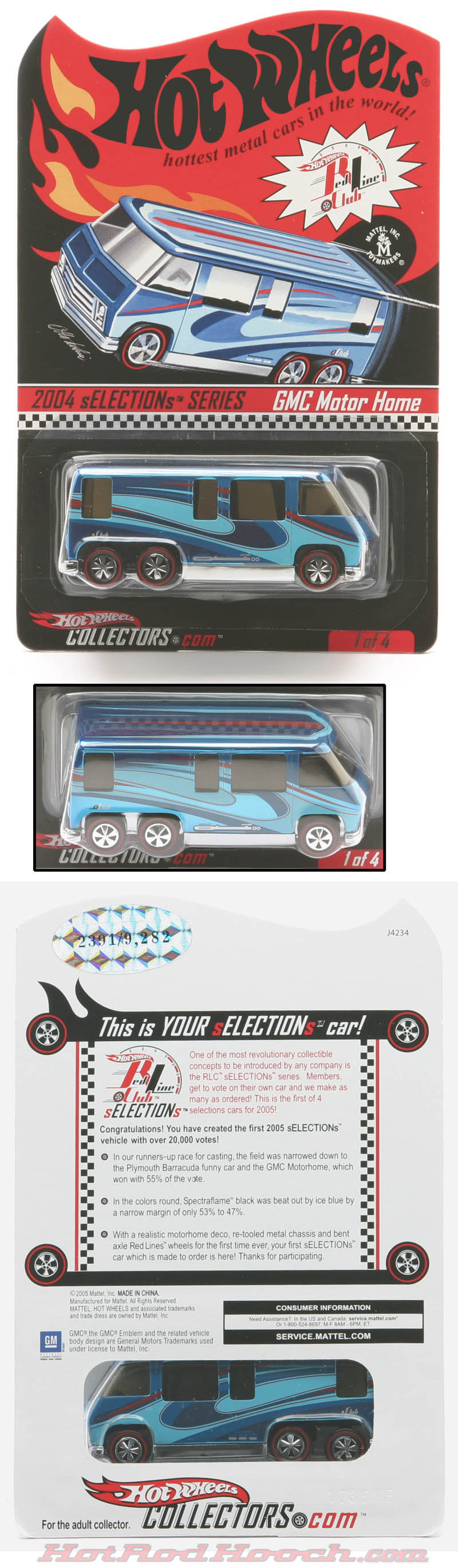 Hot Rod Hooch - Hot Wheels Redline Club cars.